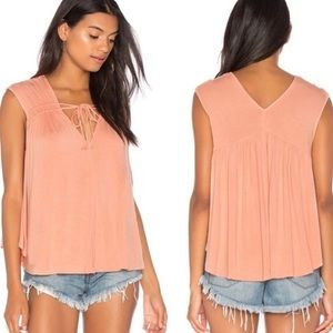 Free People | Back in Town Top in Peach